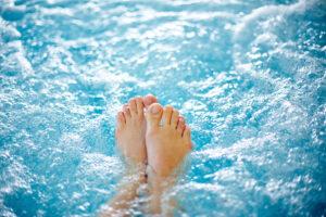 Entspannen in sauberem Whirlpool